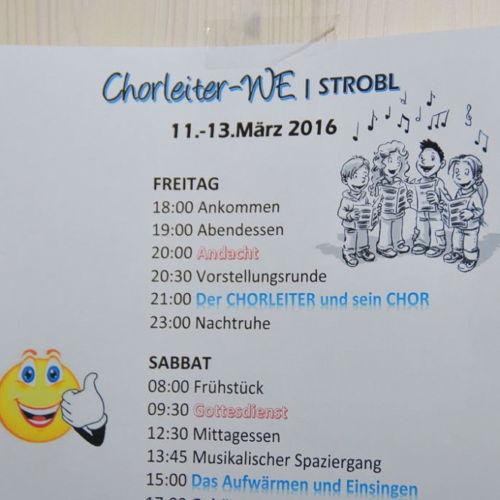 Bild zum Weblog Chorleiterwochenende in Strobl 11. - 13. März 2016